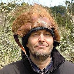 Author Yogan Baum in the countryside